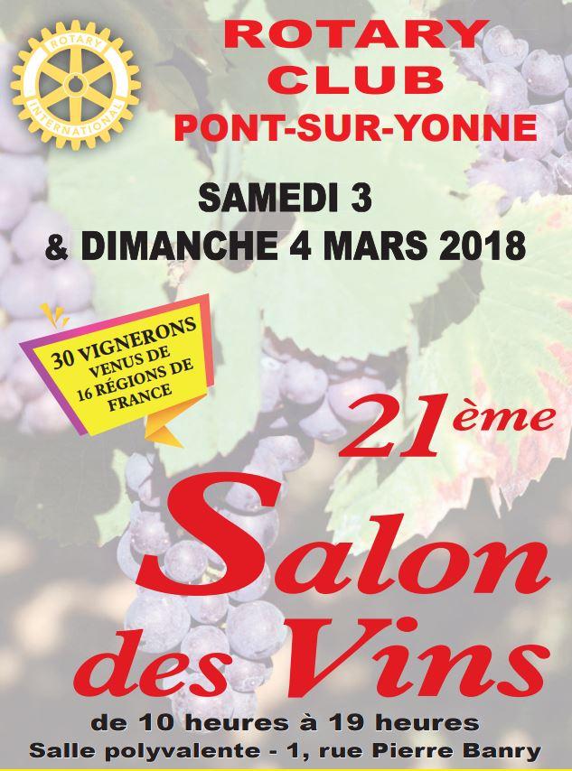 Rotary psy rotary de pont sur yonne for Calendrier salon des vins
